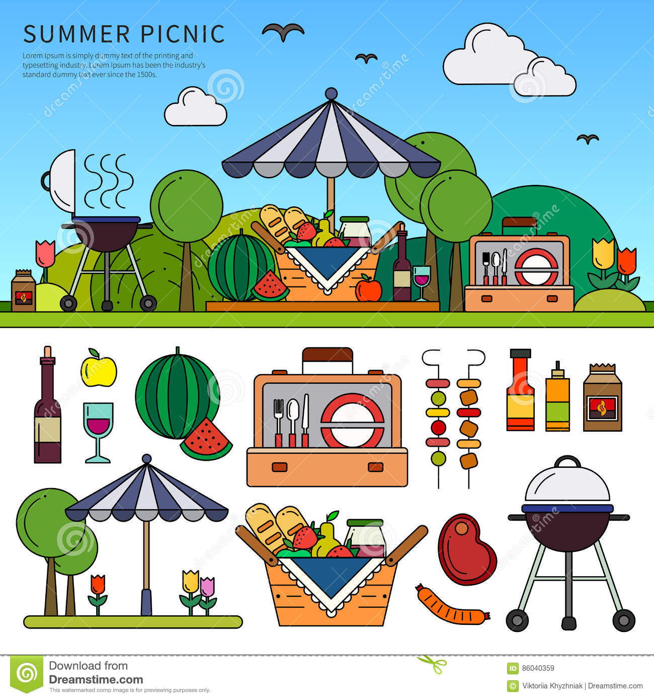 Picknick am Sommertag