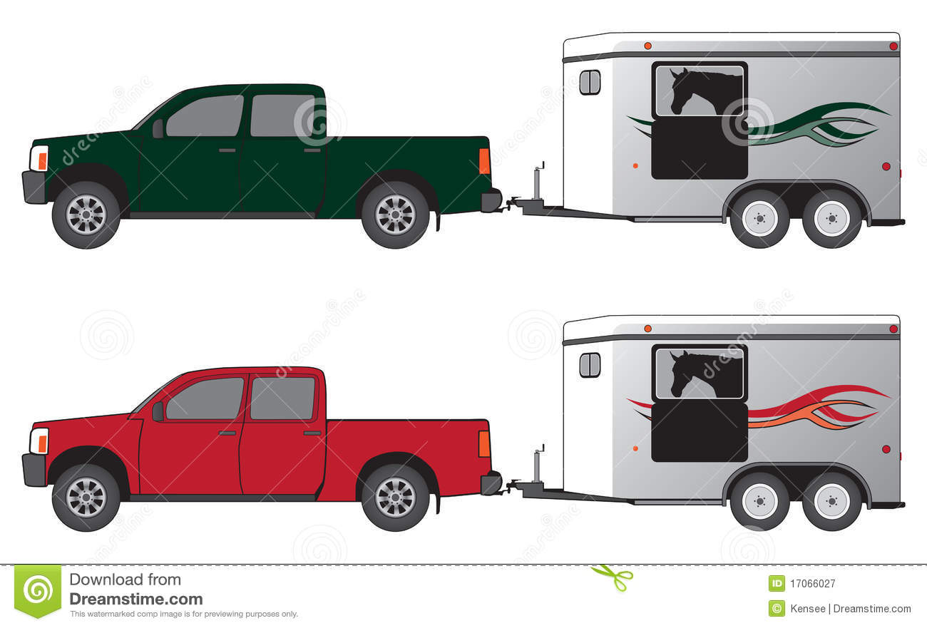 Pickup With Horse Trailer Royalty Free Stock Photography ...