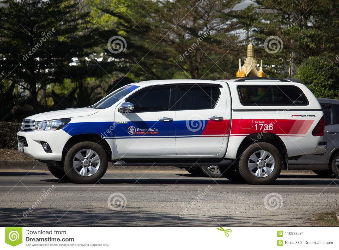 Pickup Truck Car Toyota Hilux Revo Of Dhiphaya Insurance Editorial