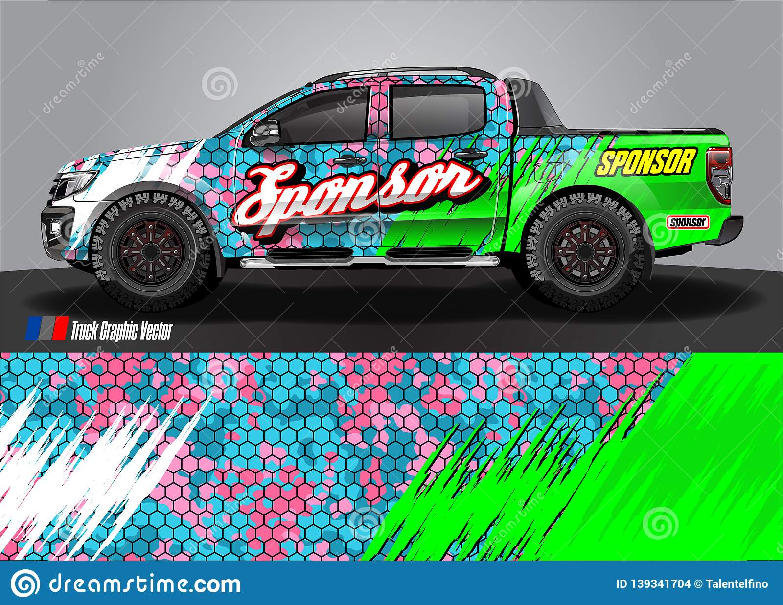 Pickup Truck Livery Graphic Abstract Grunge Background Design For Vehicle Vinyl Wrap And Car Branding Stock Illustration Illustration Of Camouflage Branding 139341704