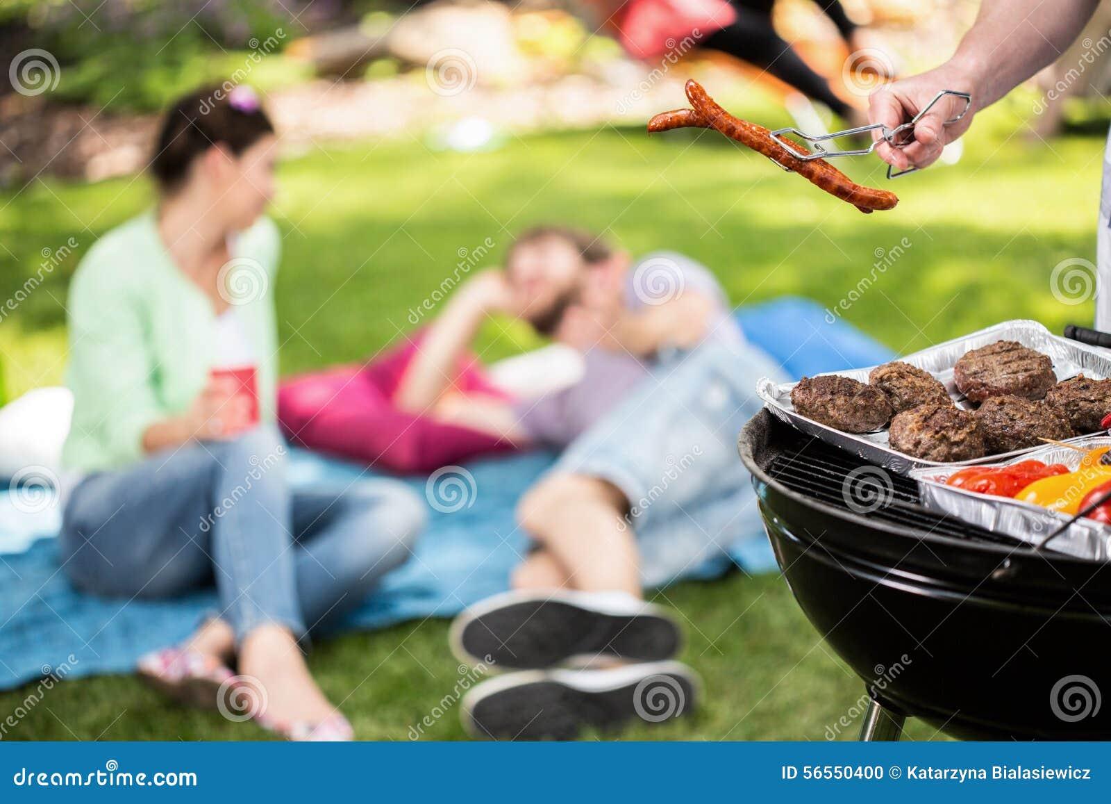 Download Picnic στον κήπο στοκ εικόνες. εικόνα από σχάρα, προετοιμαστείτε - 56550400