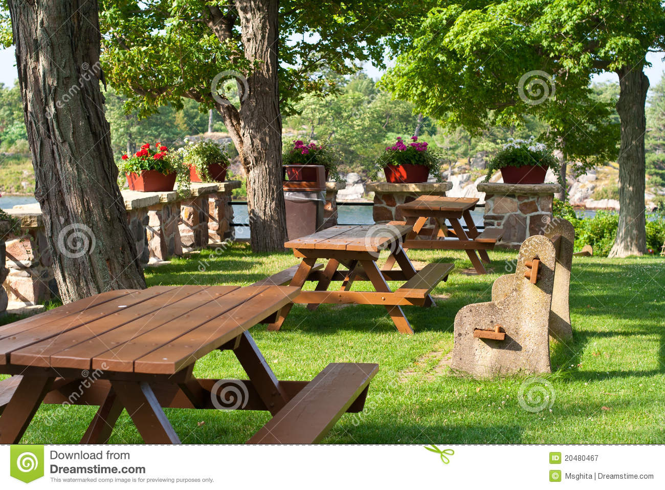 Picnic Area 2 Royalty Free Stock Photography - Image: 20480467