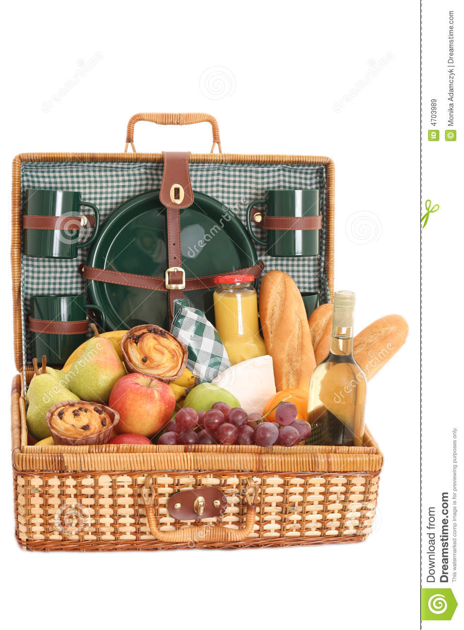 Picnic Basket Business : Picnic basket royalty free stock images image