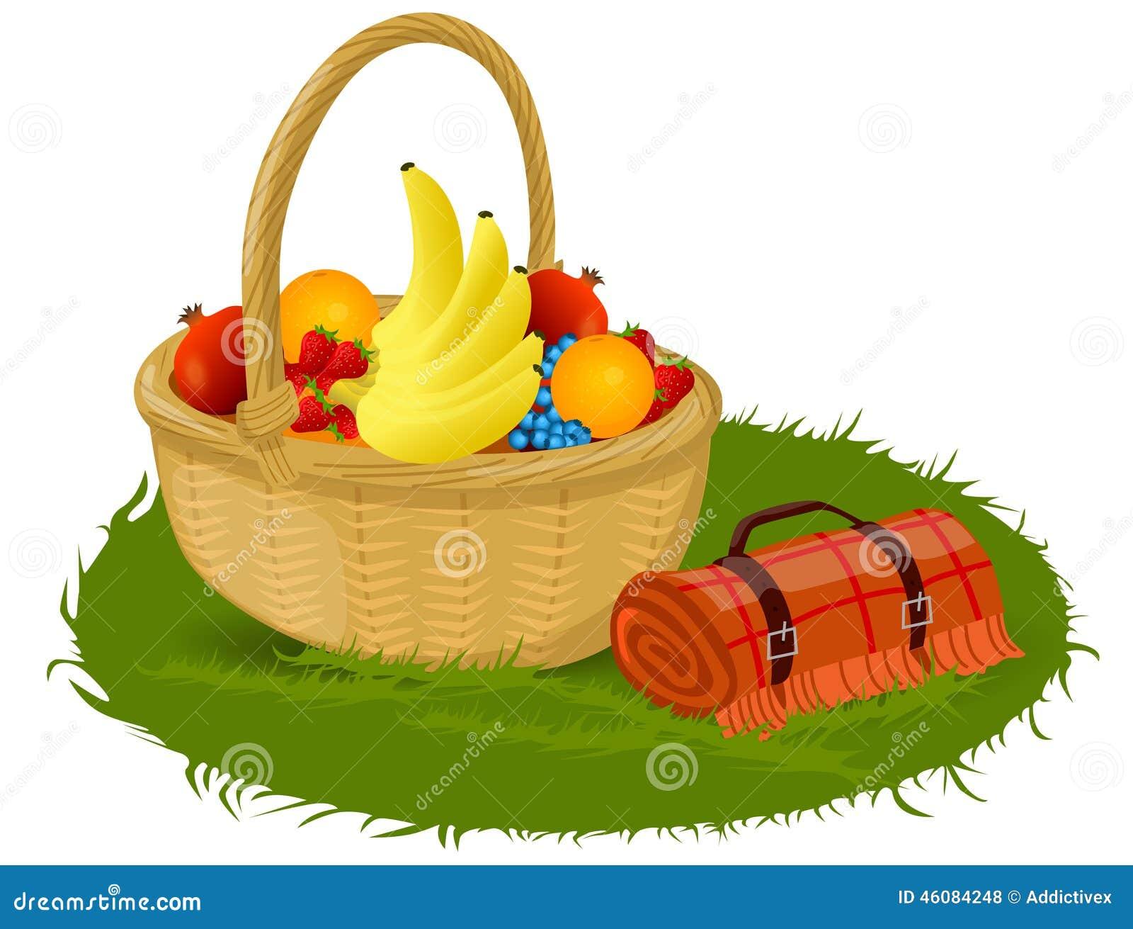 Picnic Basket Stock Vector Image 46084248