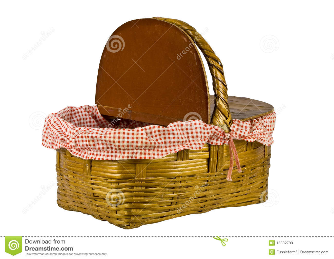 Picnic Basket Business : Picnic basket open isolated on white royalty free stock