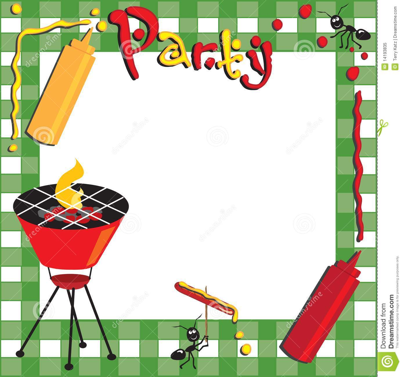 BBQ Party Invitation stock photo. Image of party, cooking - 13826688