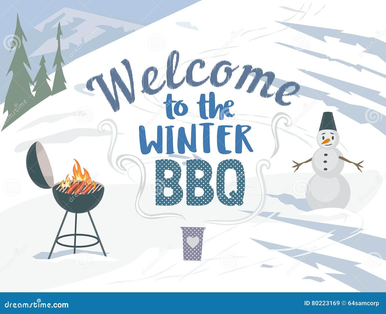 Picnic di inverno del BBQ