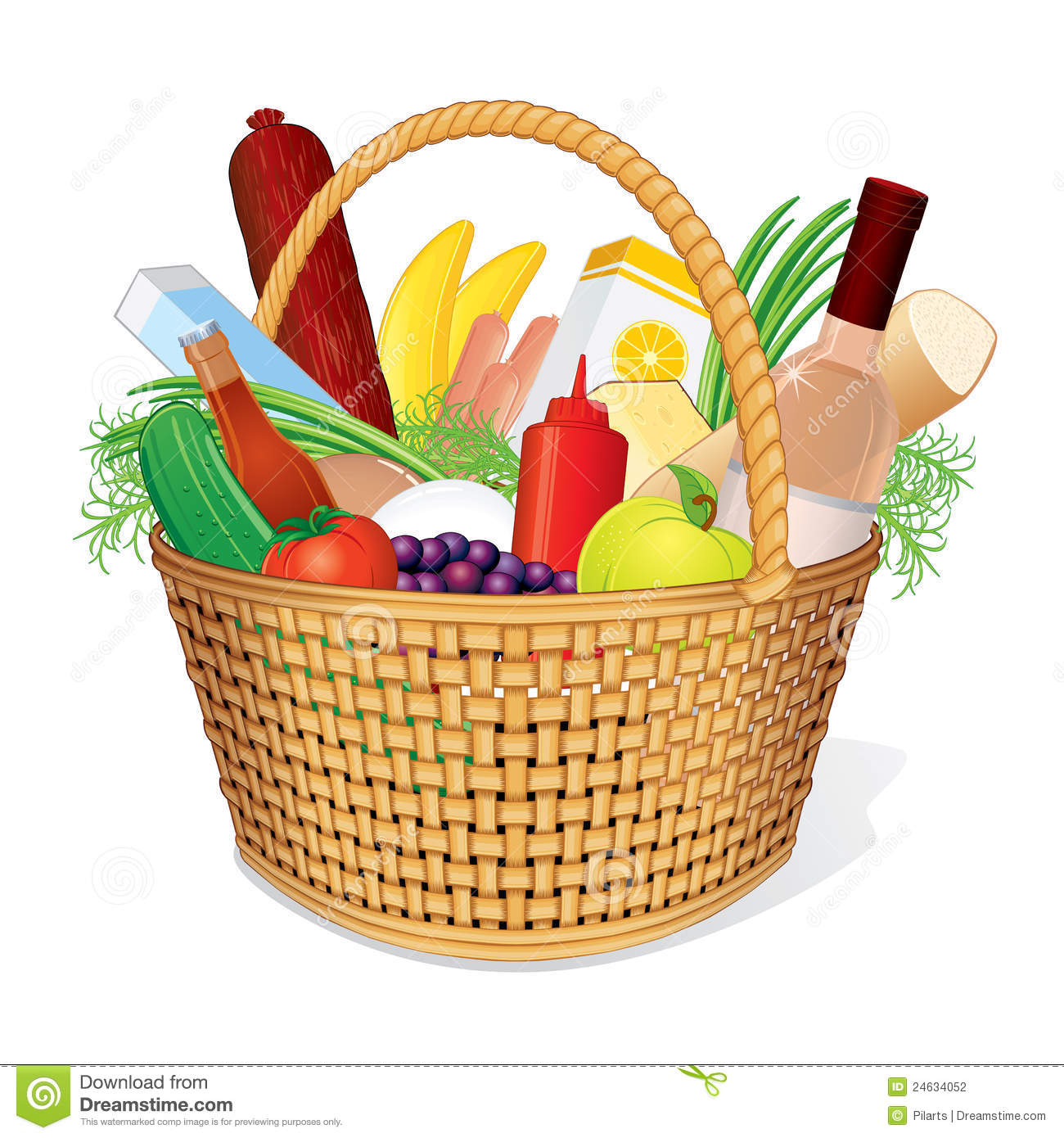 Picnic Hamper With Food Stock Photo Image Of Eating