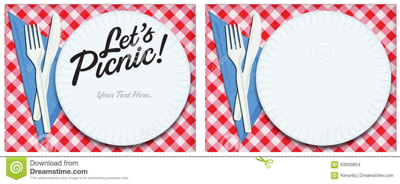 Picnic Invitation Art Stock Illustration - Image: 63930654