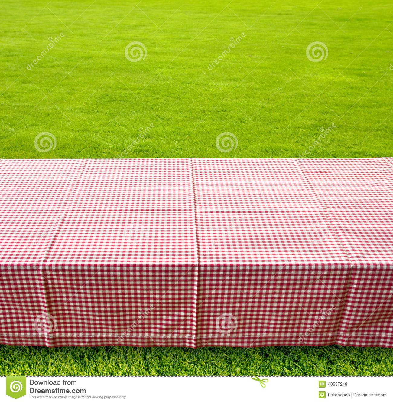 picnic table background stock photo image of checked 40587218