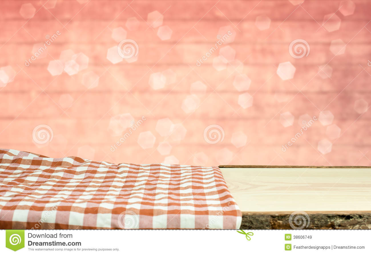 Picnic Table With Bokeh Background Royalty Free Stock