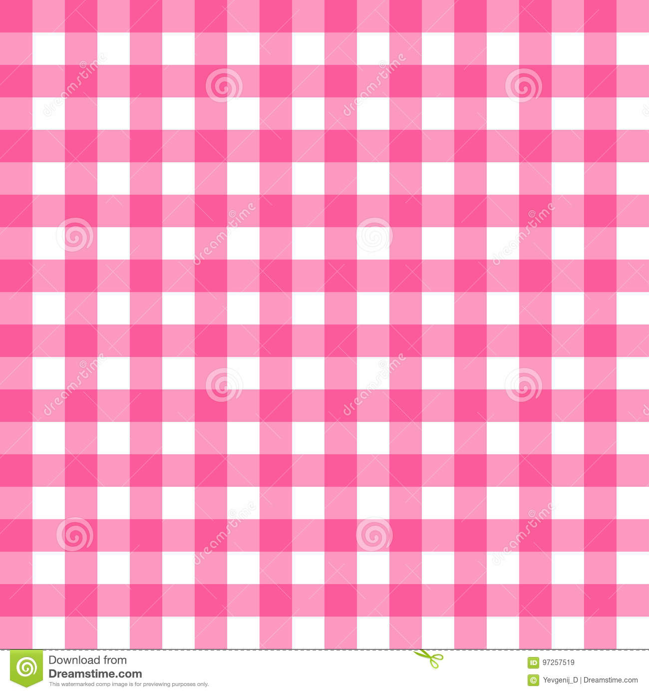 Picnic Table Cloth Seamless Pattern Pink Picnic Plaid Texture Stock Vector Illustration Of