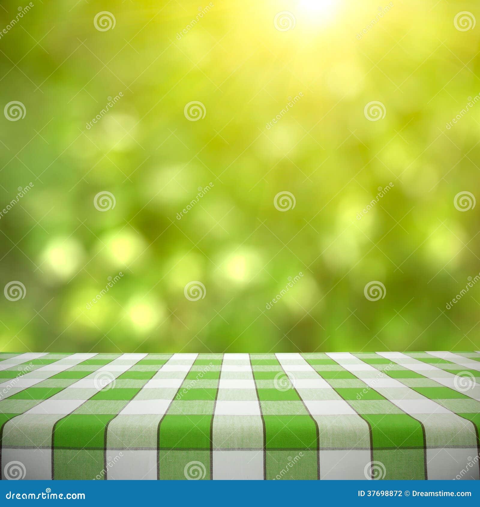 Picnic Table On Green Bokeh Stock Photo - Image: 37698872