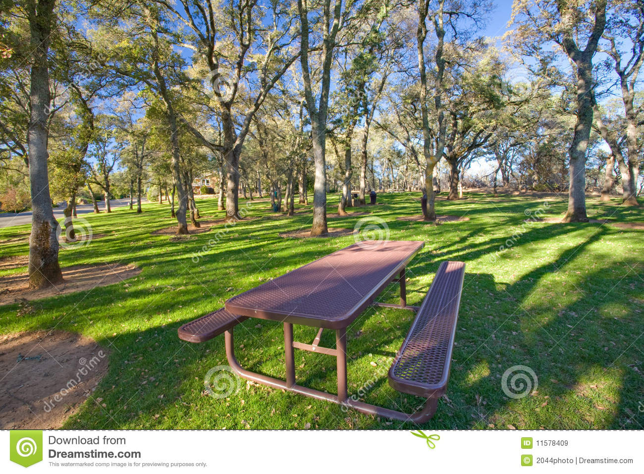Picnic Table In Public Park Royalty Free Stock Images - Image ...