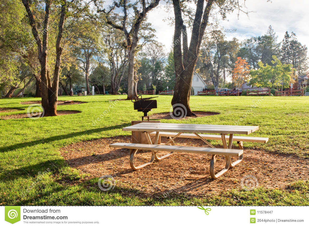 Picnic Table In Public Park Royalty Free Stock Photography ...