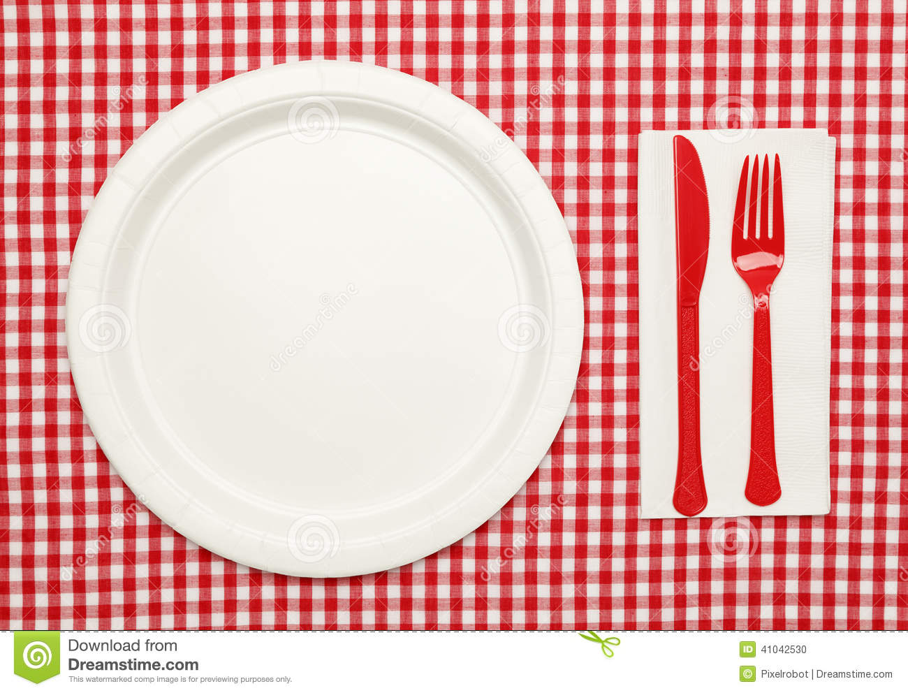 Picnic Table Setting Stock Photo - Image: 41042530