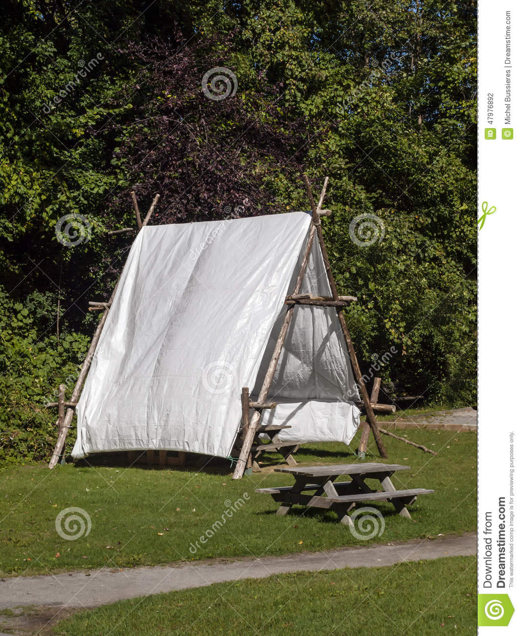 Picnic table u0026 Tent & Picnic table u0026 Tent stock photo. Image of holiday specific - 47976892