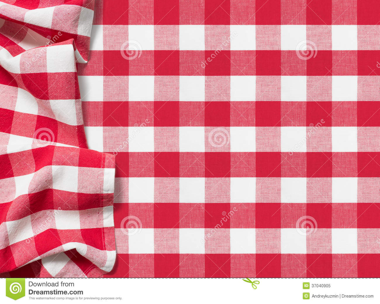 Picnic Tablecloth Checkered Red Background Royalty Free ...