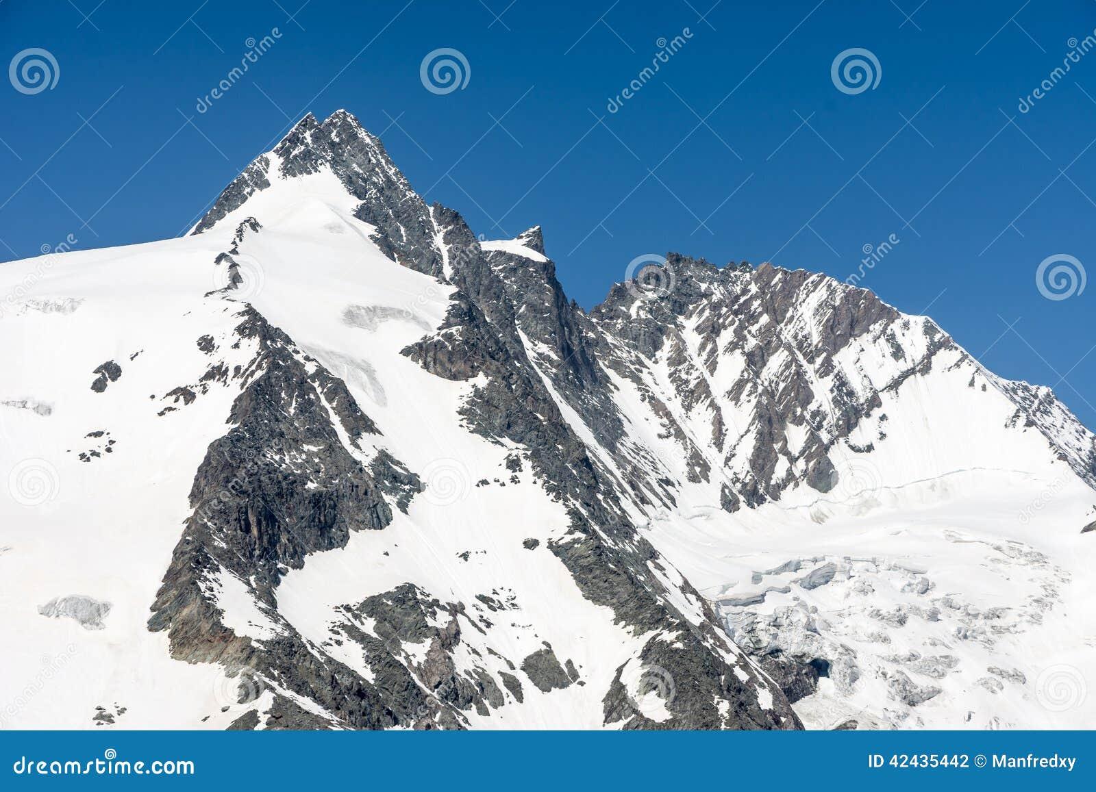 Pico de montaña de Grossglockner