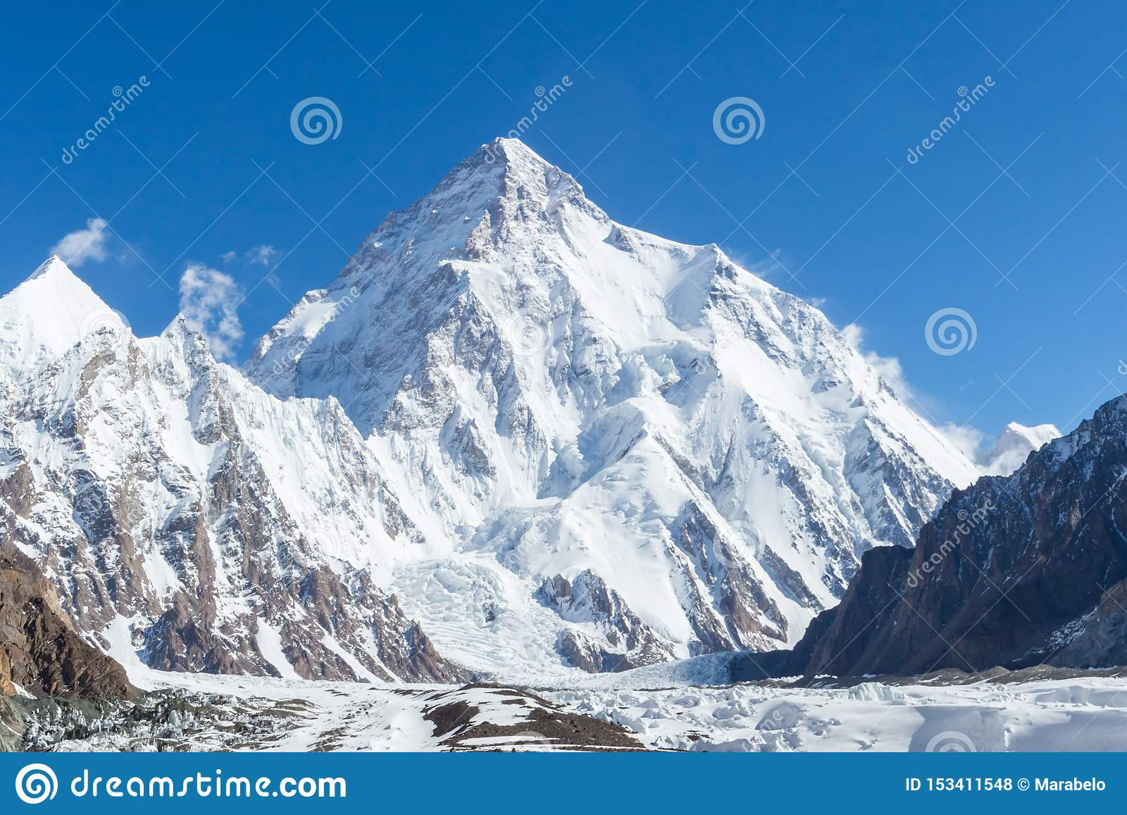 Pico de montaña K2, K2 senderismo, Paquistán, Asia