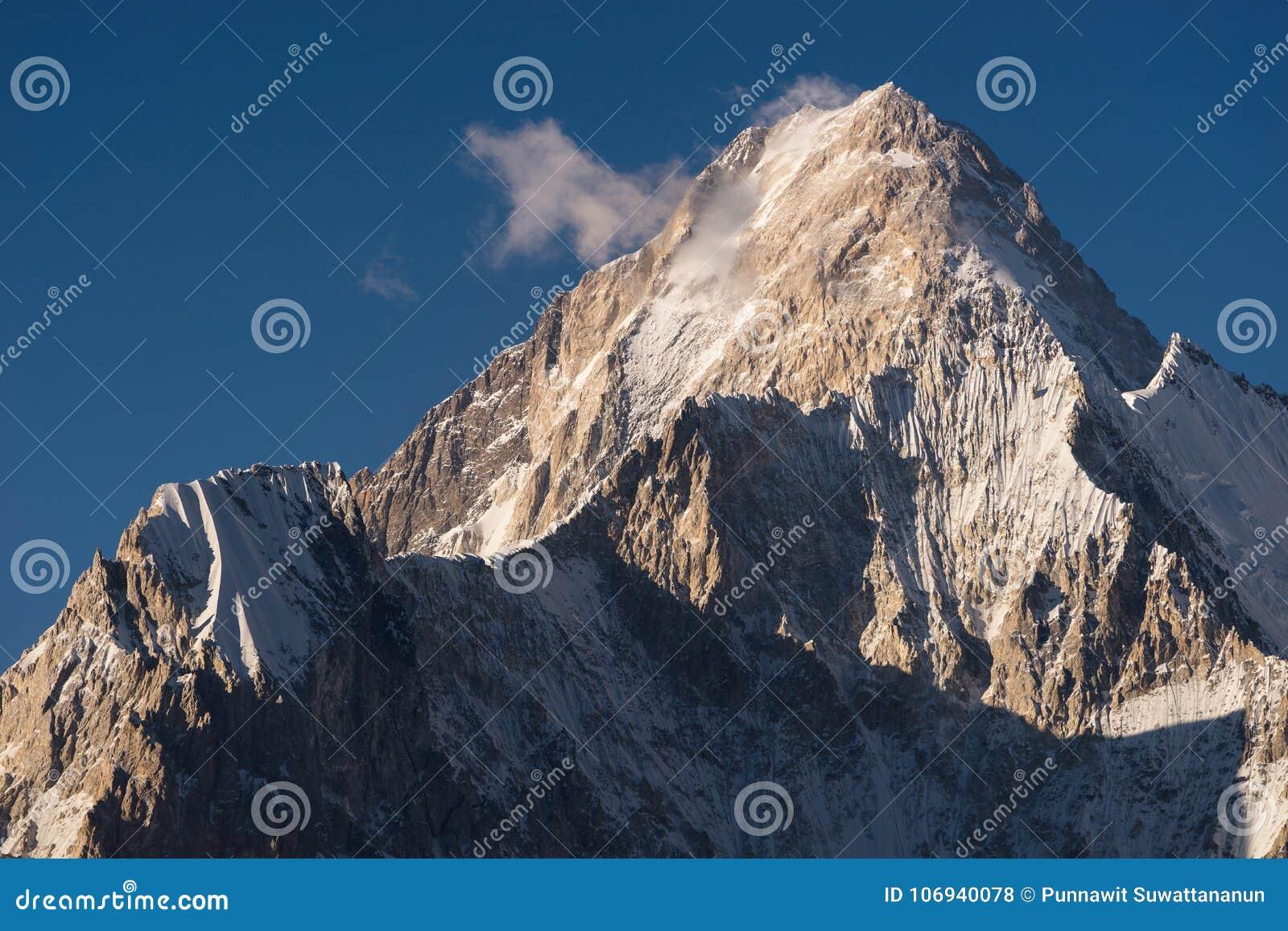 Pico de montanha de Gasherbrum 4, K2 passeio na montanha, Karakoram, Paquistão