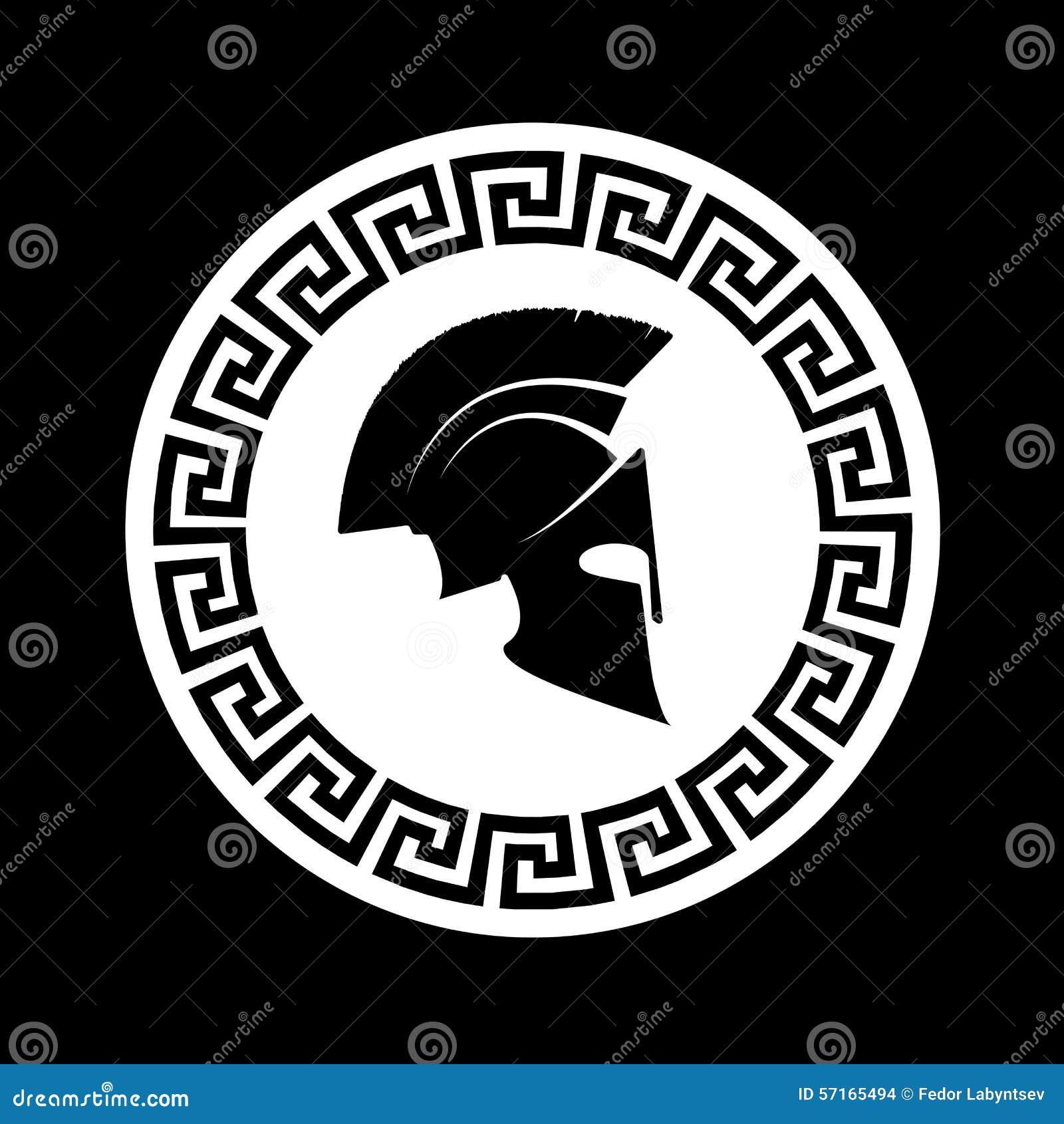 Pictogram een Spartaanse helm