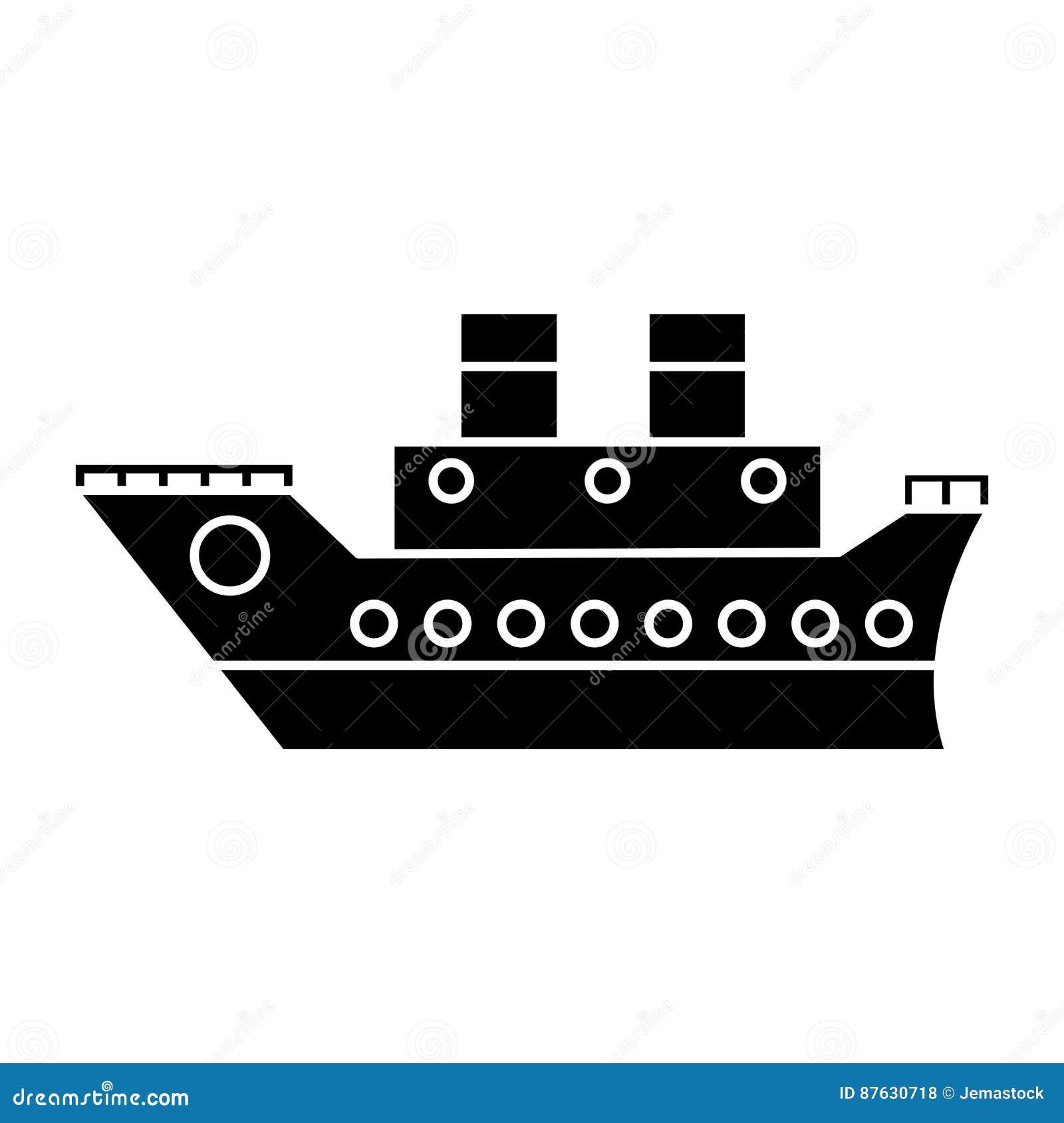 Pictogram för hav för fartygkryssninglopp