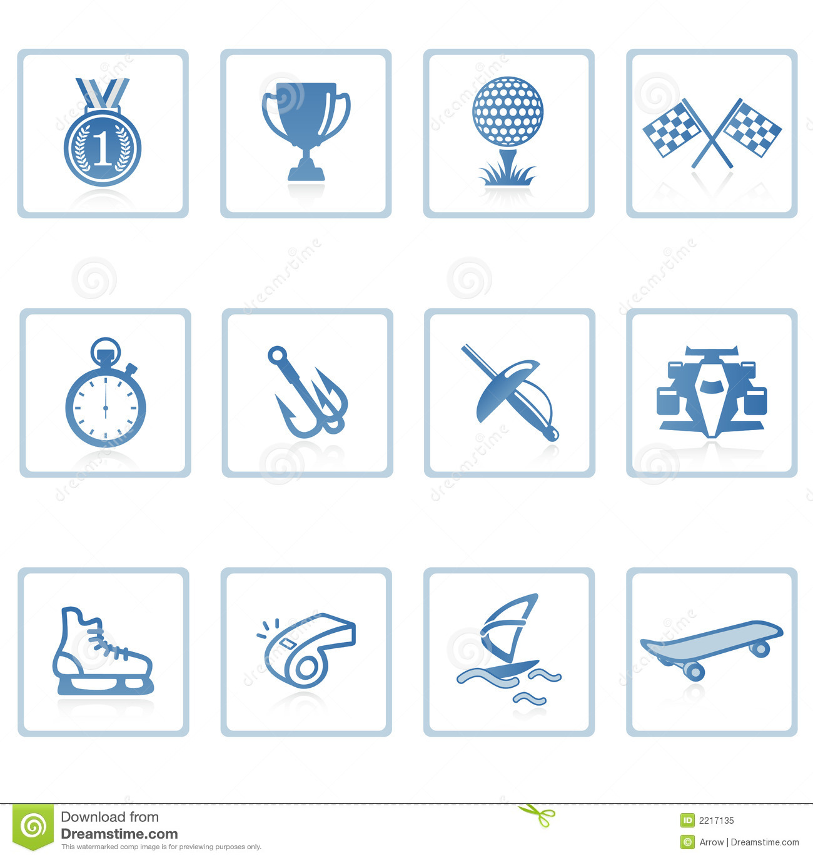 Pictogram II van sporten