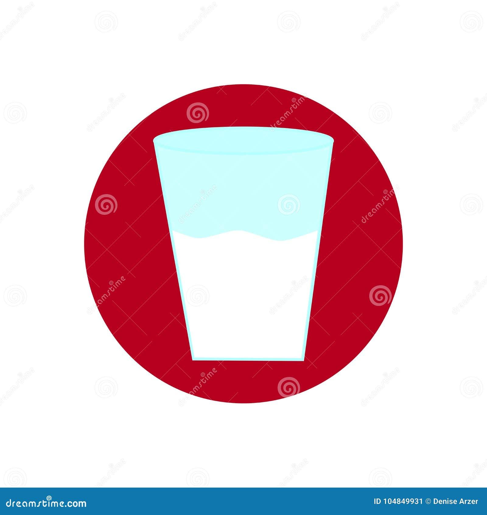 Pictogram met een glas met melk