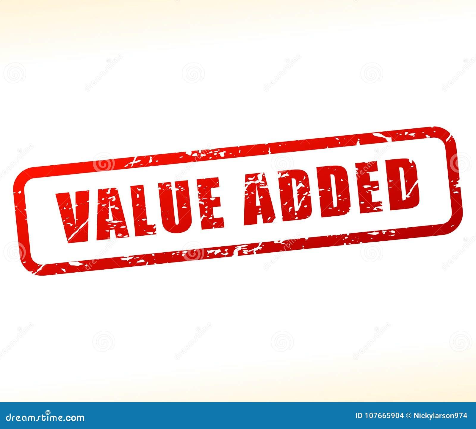 Pictogram op de toegevoegde waarde