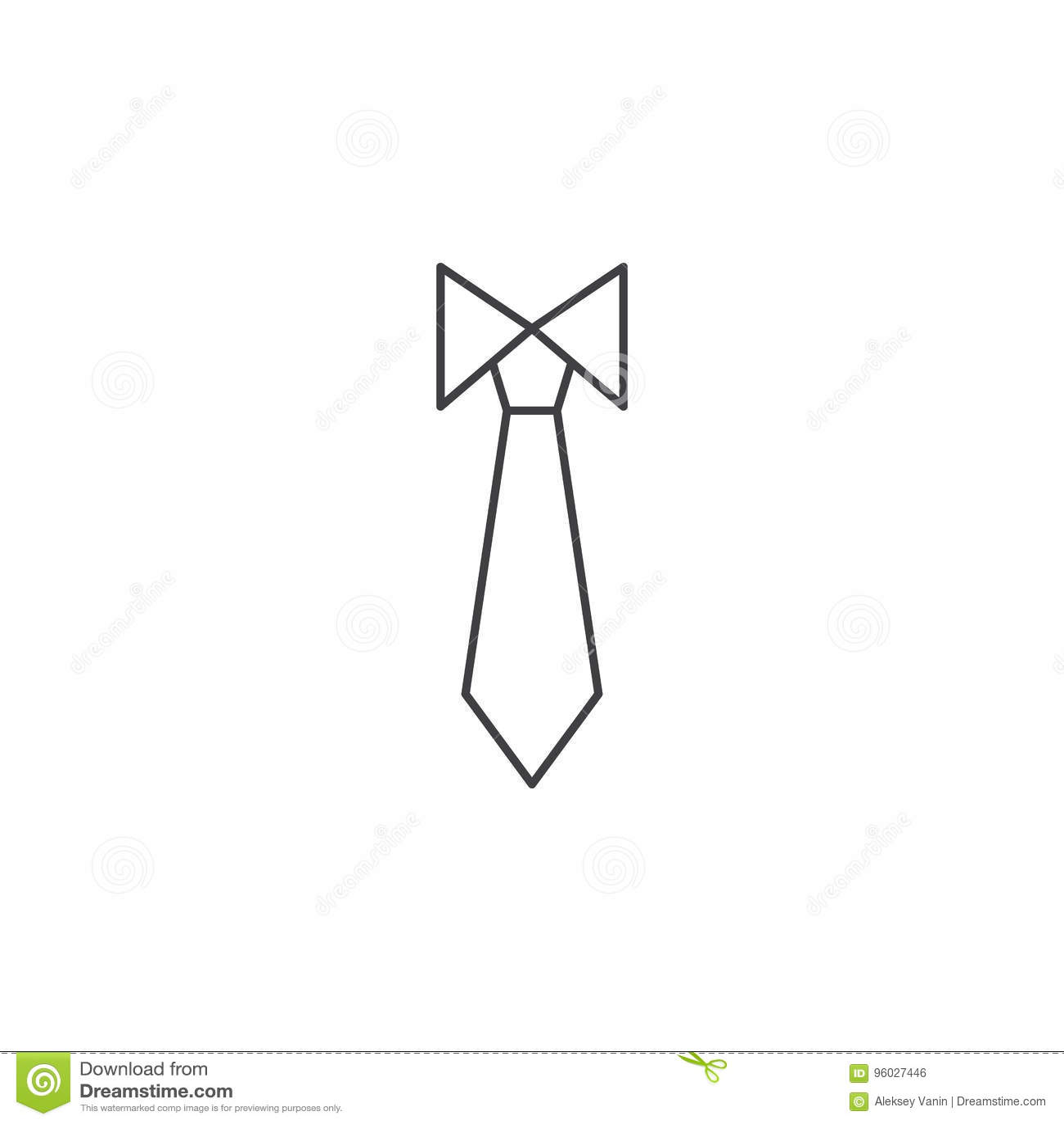 Pictogram van de band het dunne lijn, illustratie van het het overzichts de vectorembleem van de kledingscode,