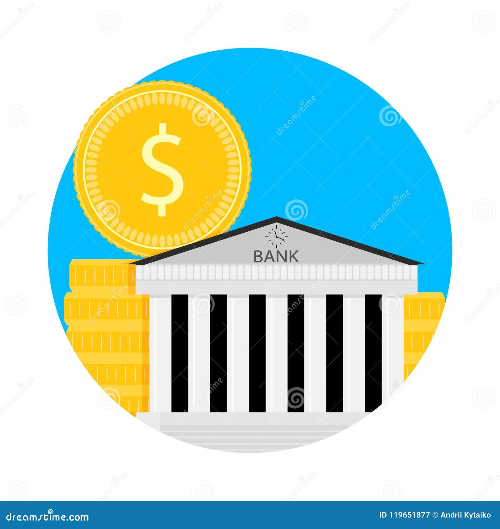 Pictogram van de bank het financiële kapitalisatie