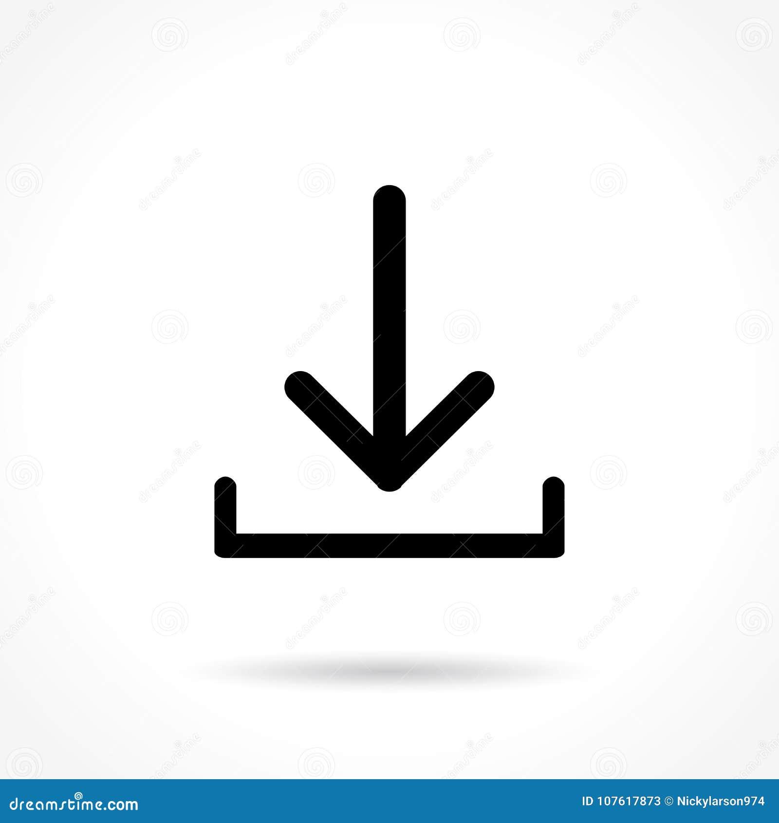 Pictogram van de download het dunne lijn