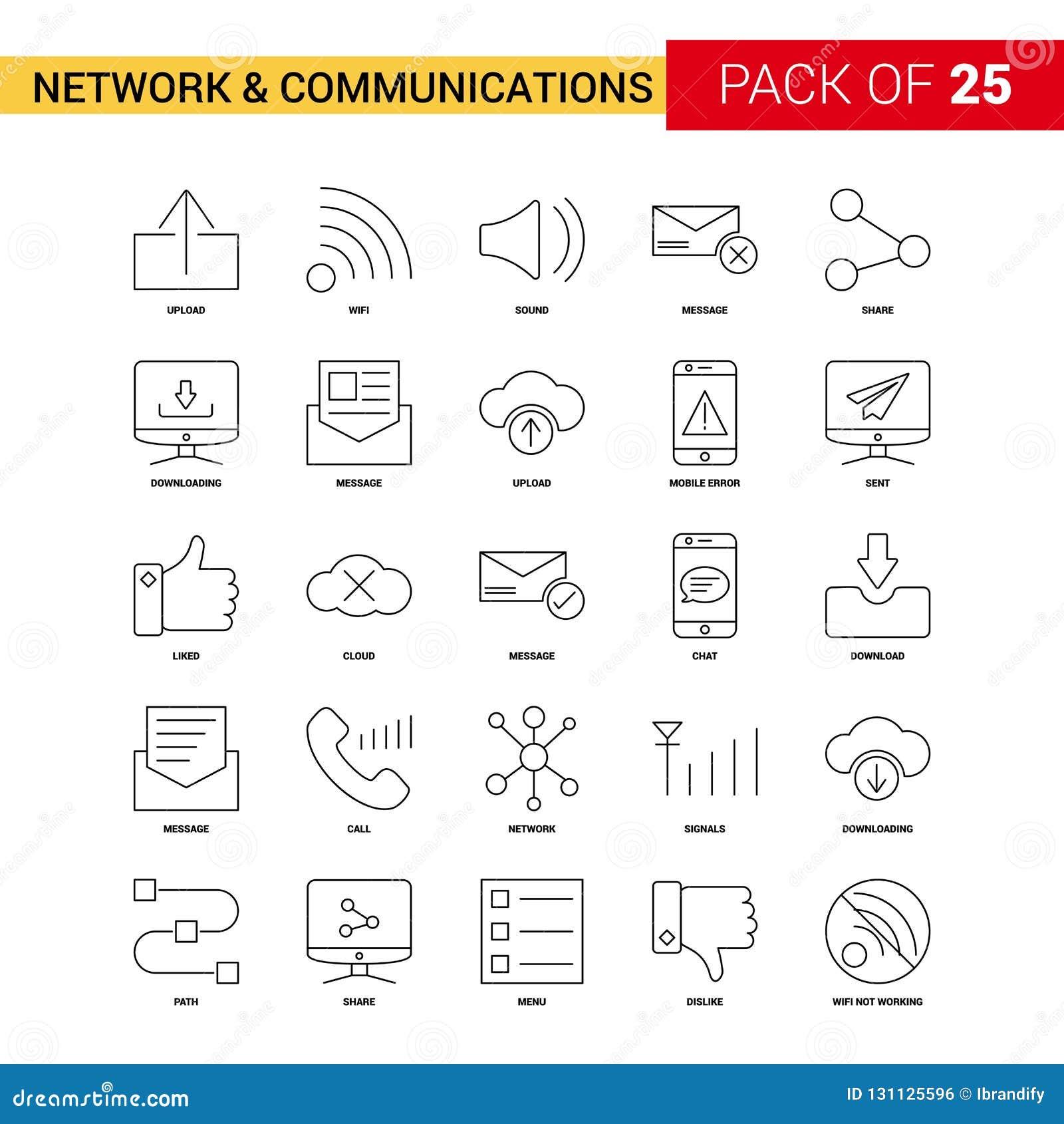 Pictogram van de netwerk en het Communicatie Zwarte Lijn - 25 Bedrijfsoverzicht