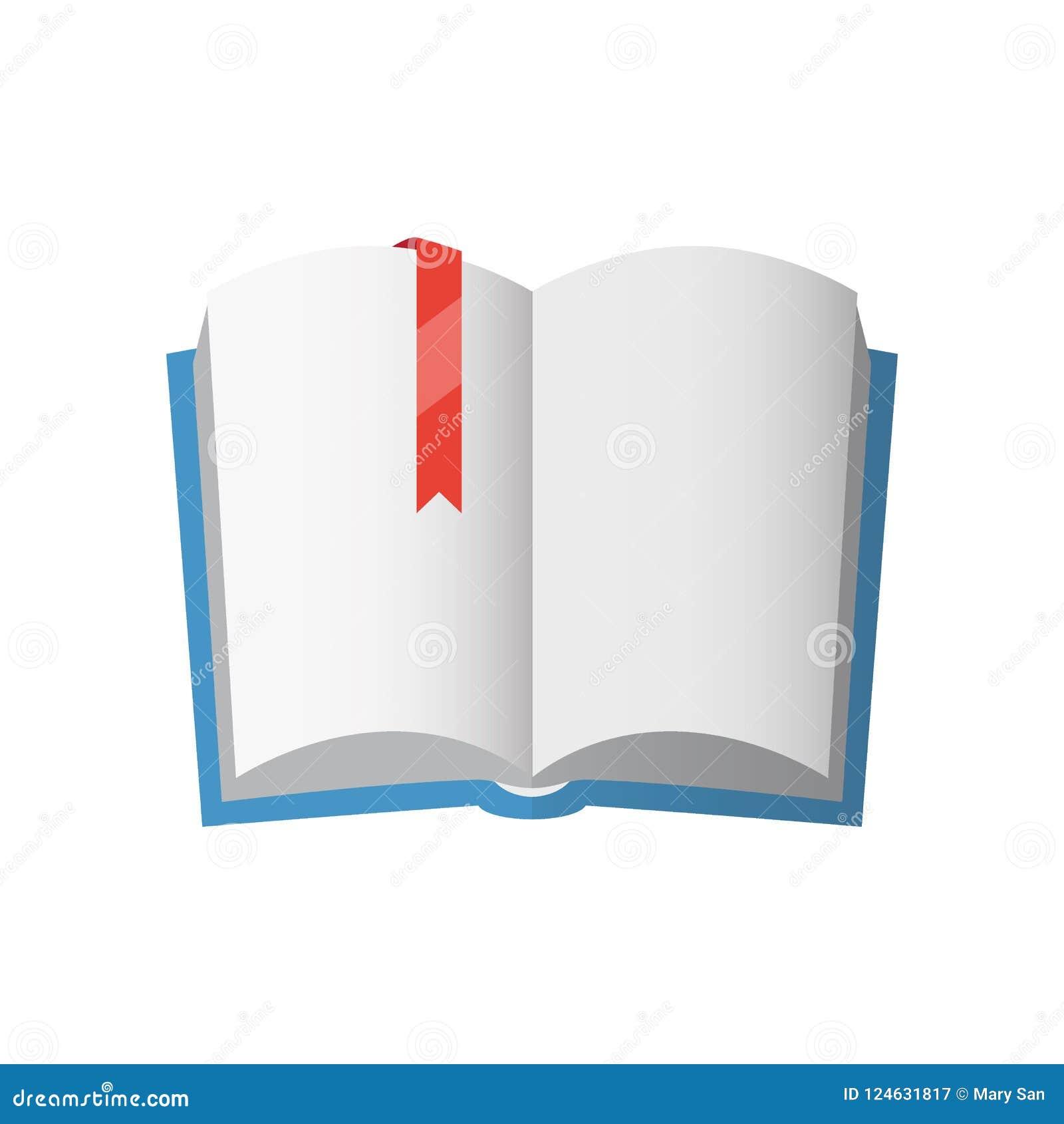 Pictogram van open handboek met rode referentie
