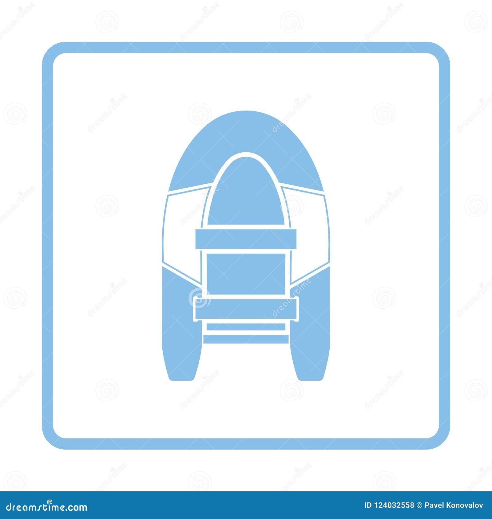 Pictogram van rubberboot