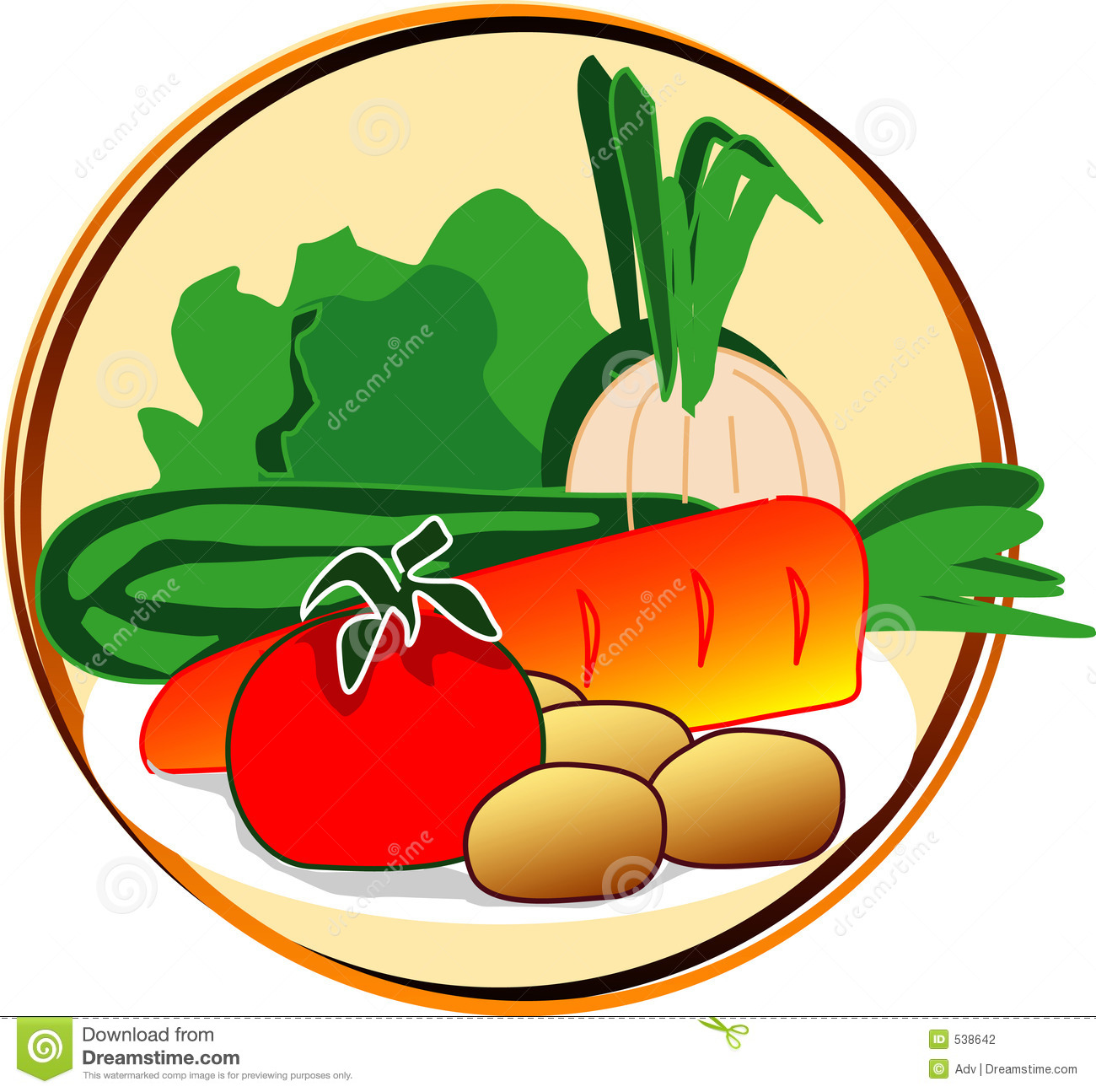 Pictogram - Vegetables Stock Photography - Image: 538642