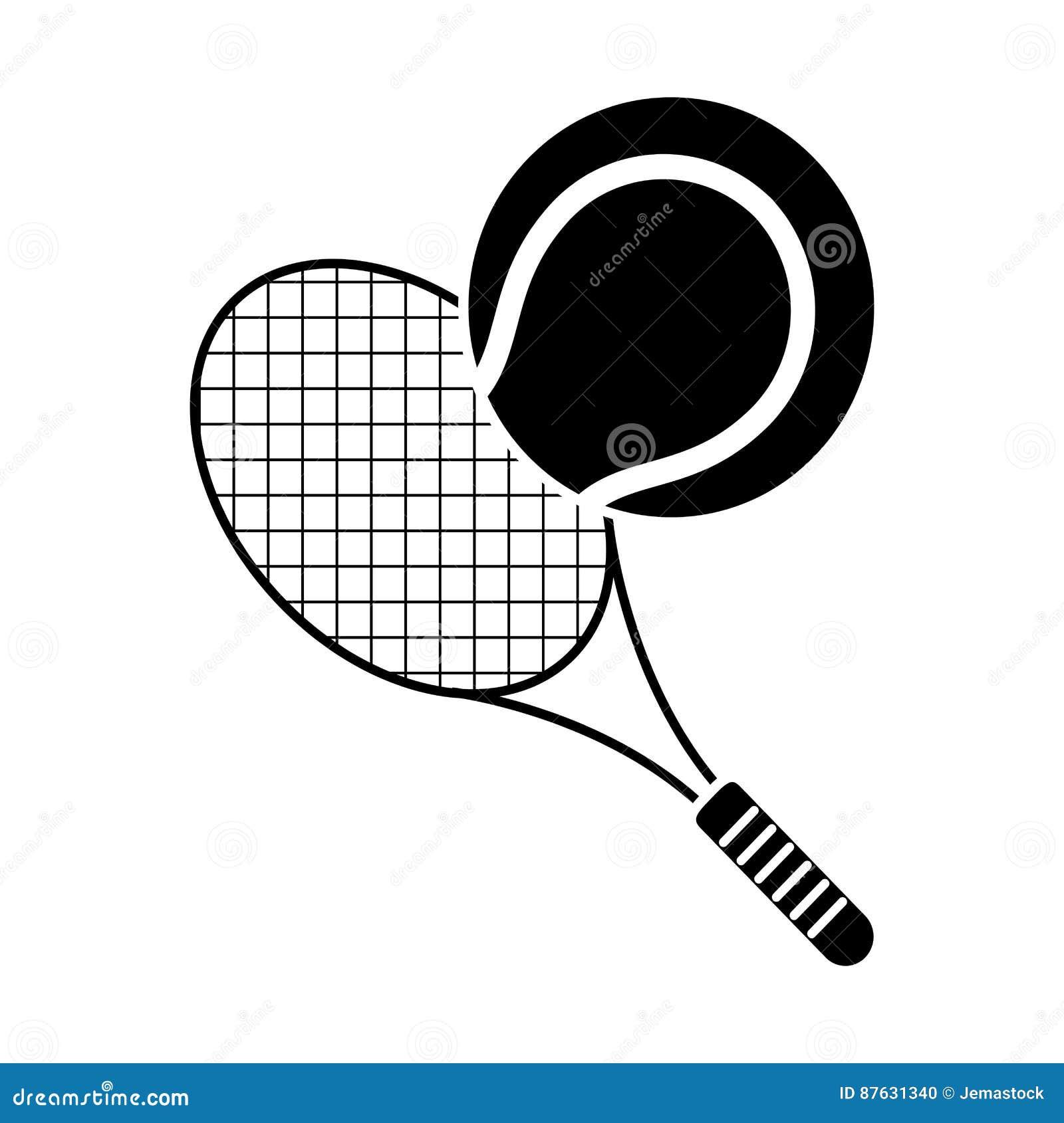 Tenis pelota stock de ilustracion ilustracion libre de stock de - Pictograma Del Deporte De La Estafa De La Pelota De Tenis