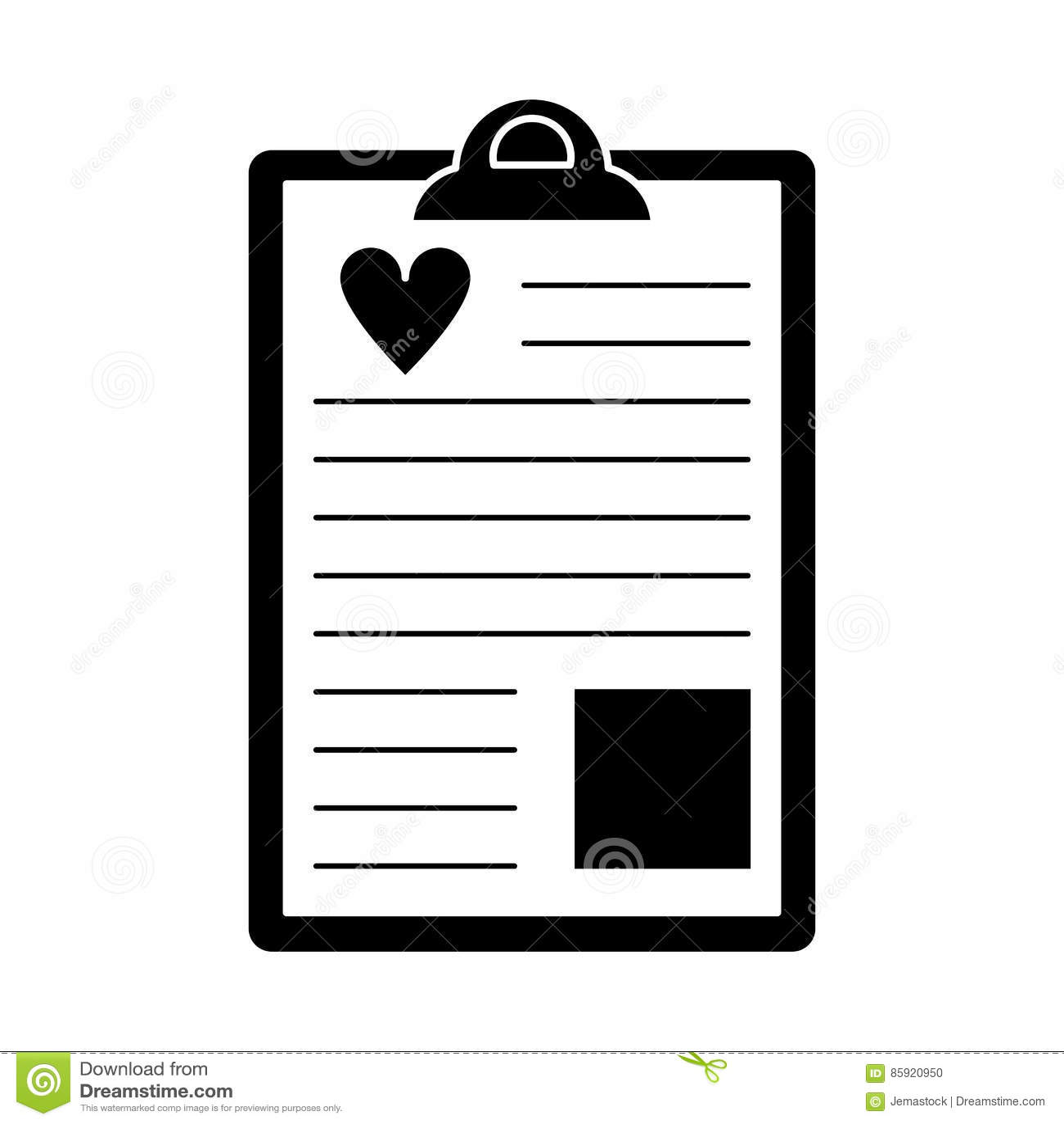 Pictograma Del Informe Del Corazón Del Tablero Ilustración del ...