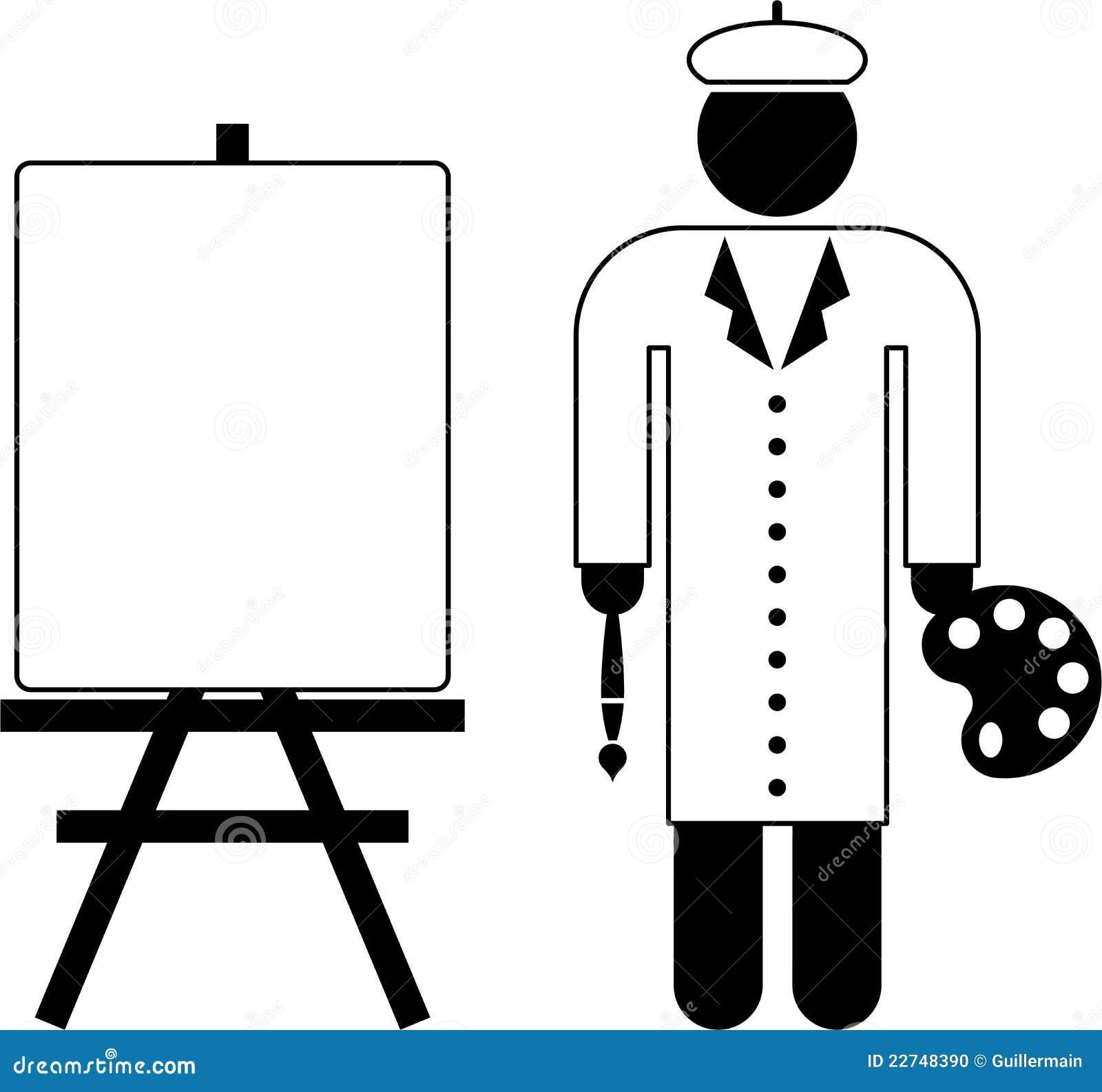 Pictograma del pintor