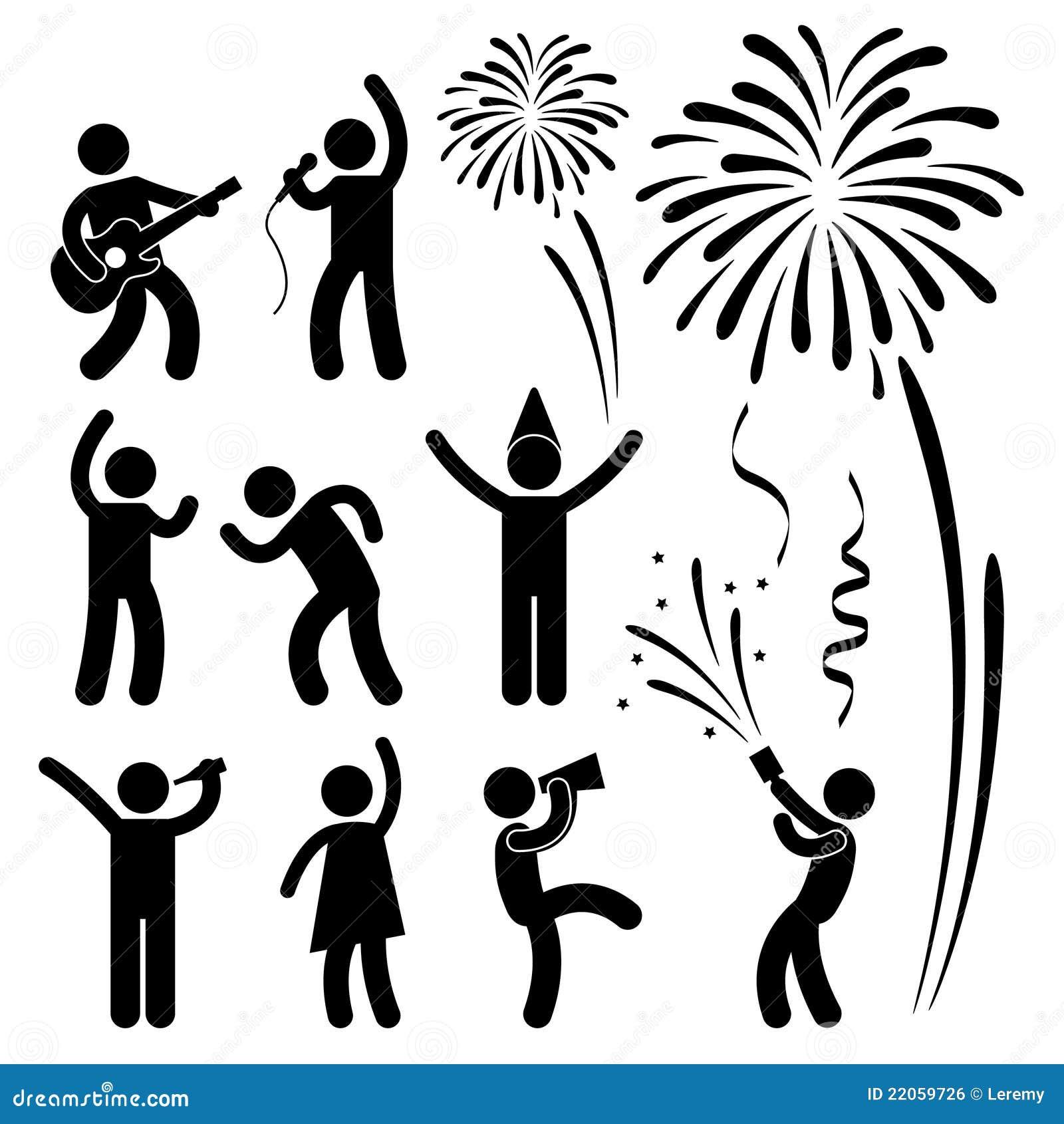 Pictograma do festival do evento da celebração do partido