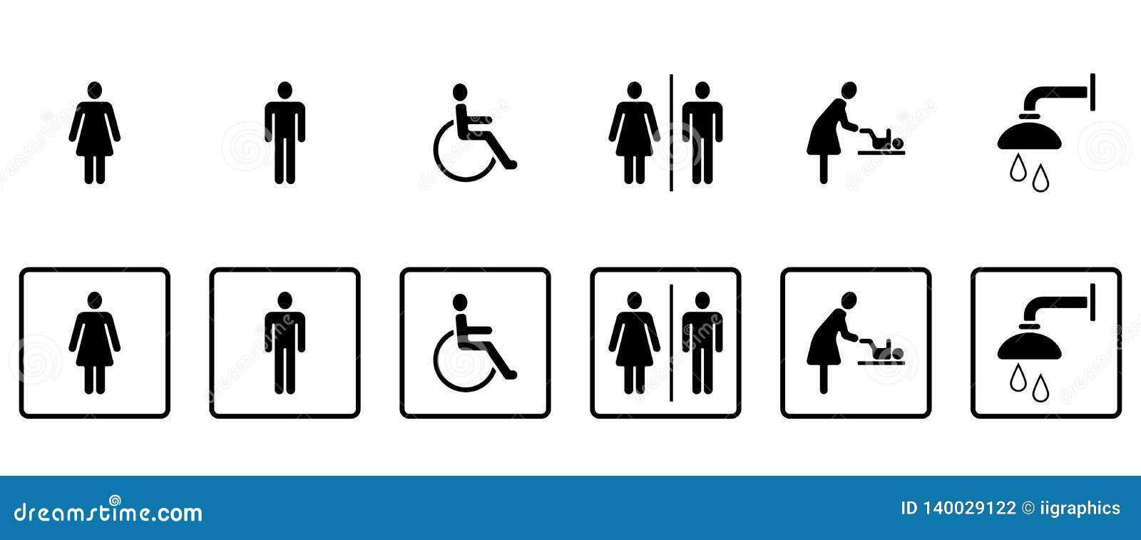 Pictograma do WC & dos toaletes - Iconset