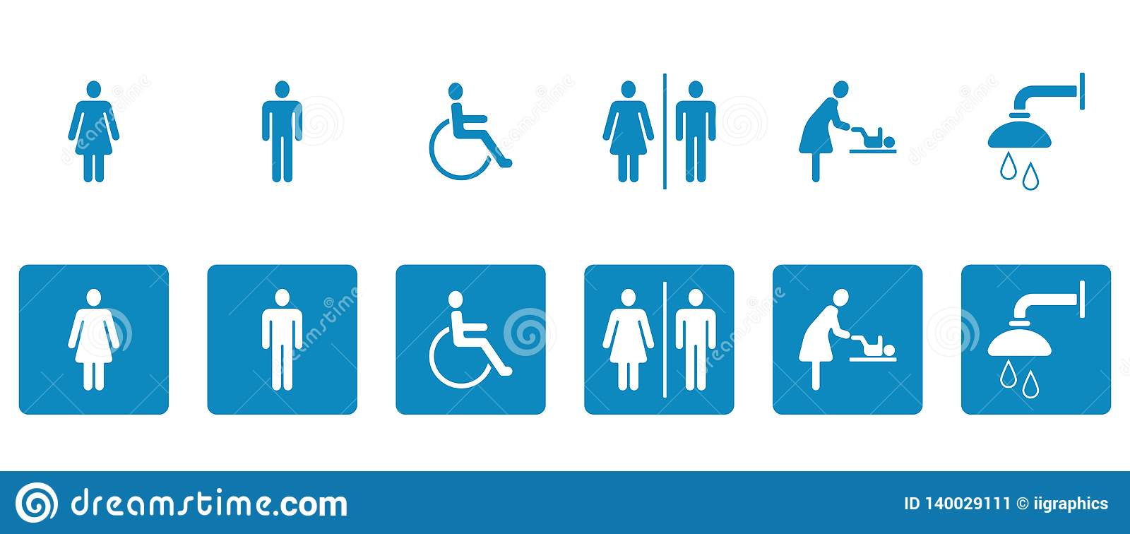 Pictogramas del WC y de los retretes - Iconset