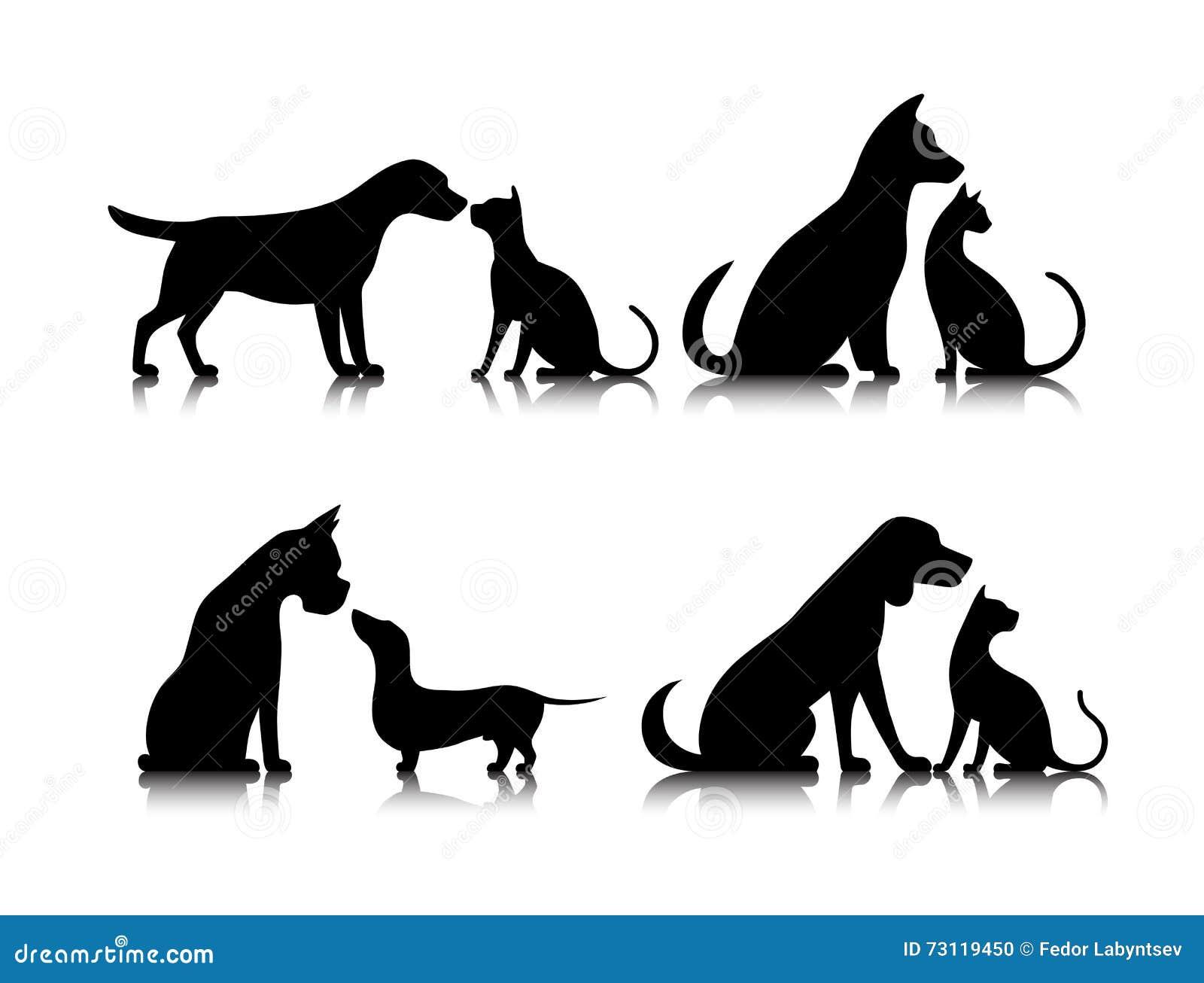 Pictogramhond en kat