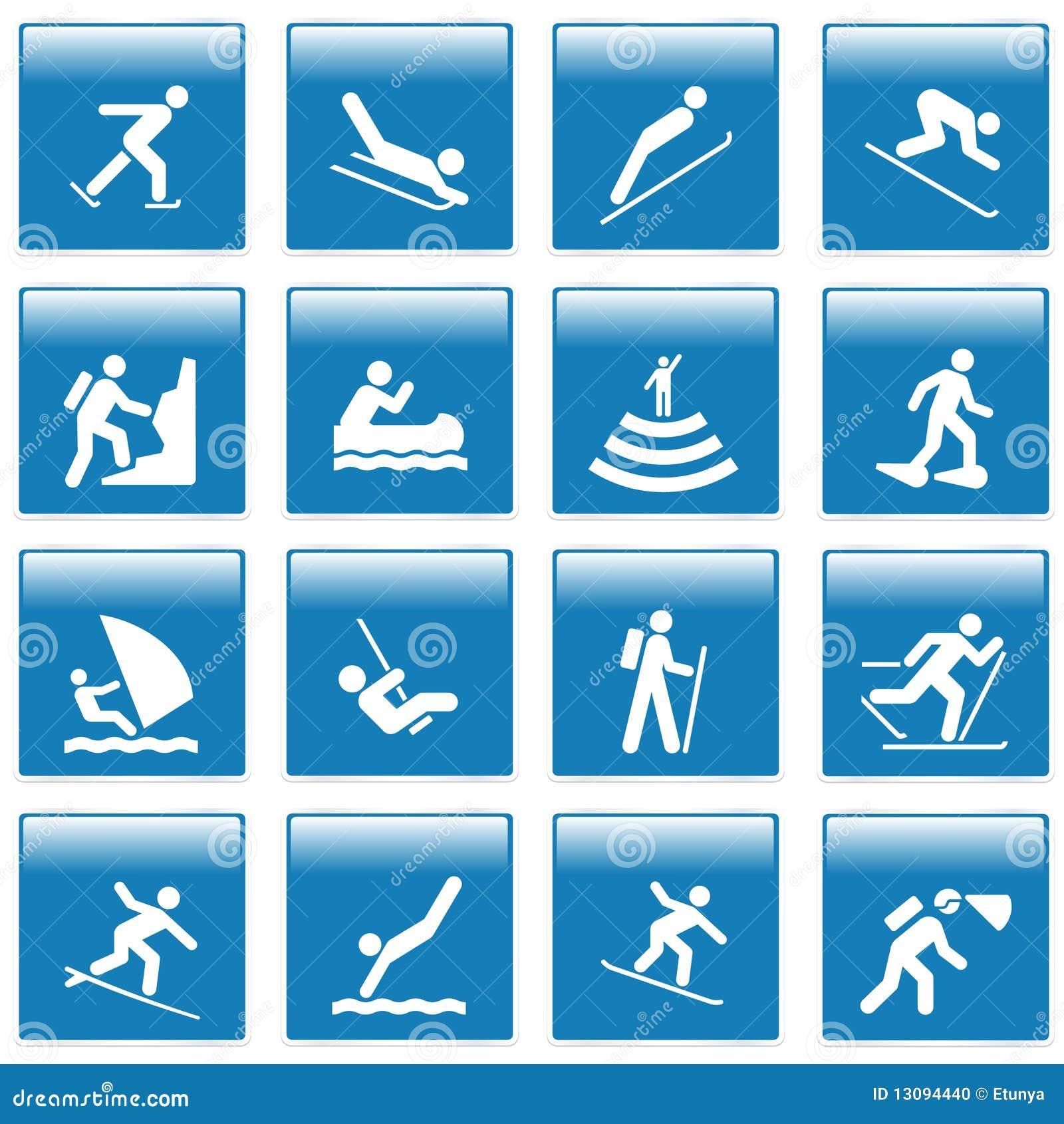 Bien connu Pictogramme Avec Des Activités De Sport Illustration de Vecteur  FR15