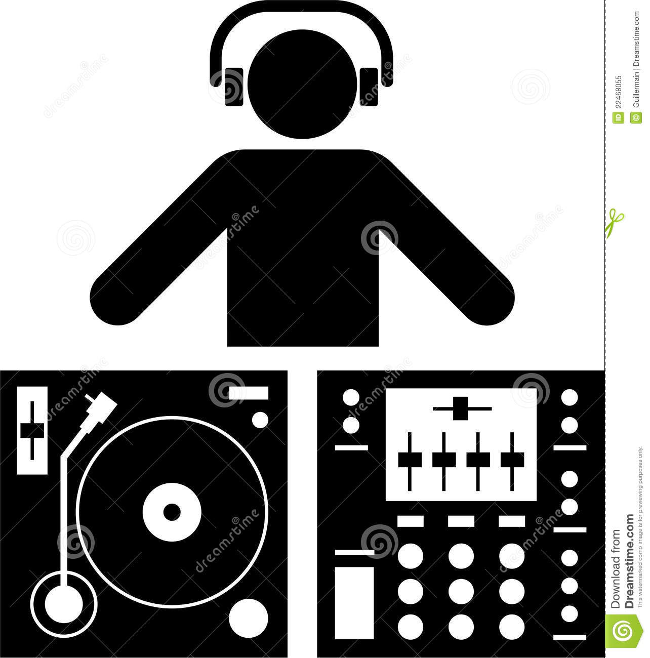 Pictogramme Du Dj Illustration De Vecteur Illustration Du Musique 22468055