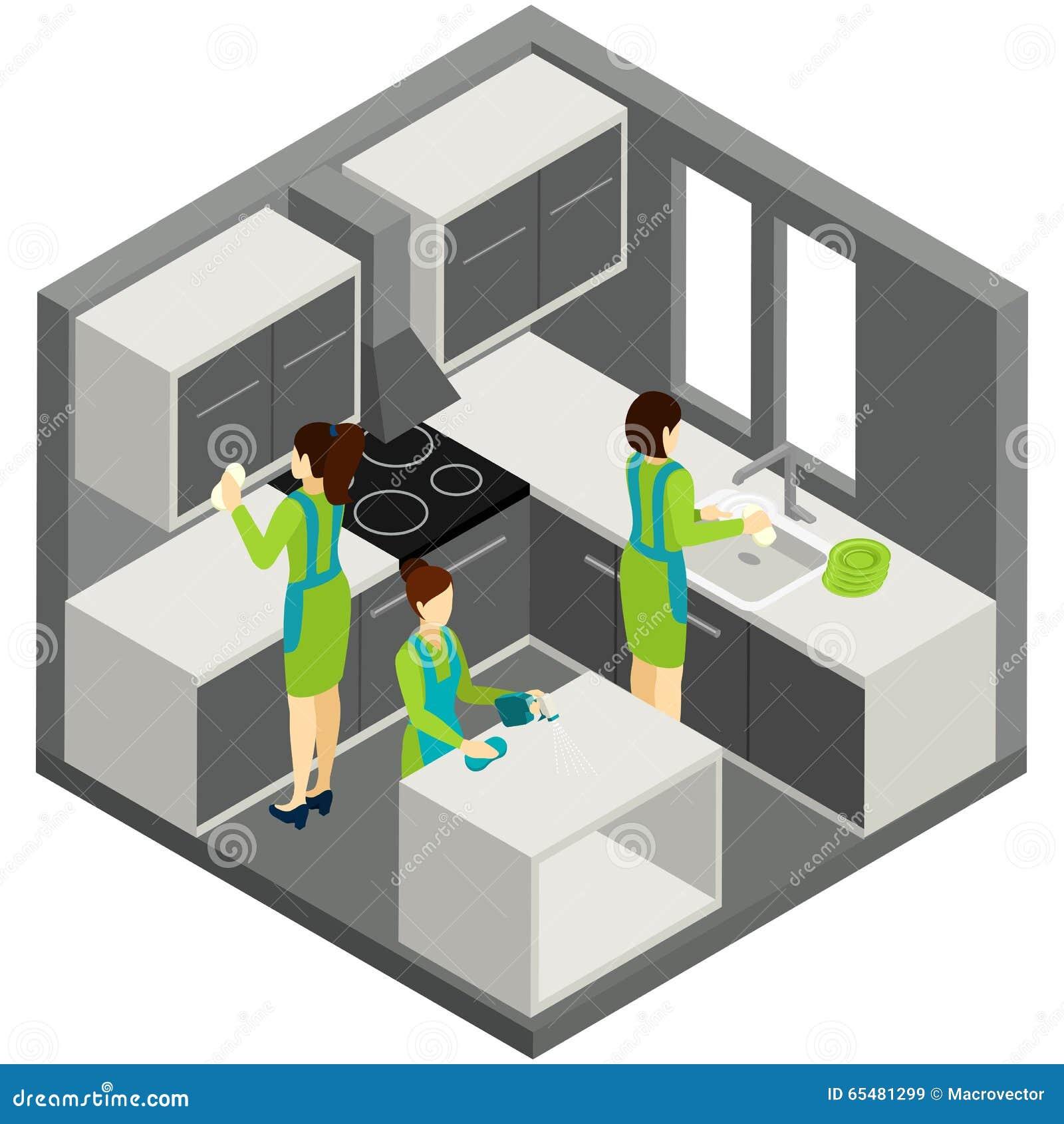 Pictogramme isom trique d 39 aide de m nage de nettoyage de for Aide de cuisine