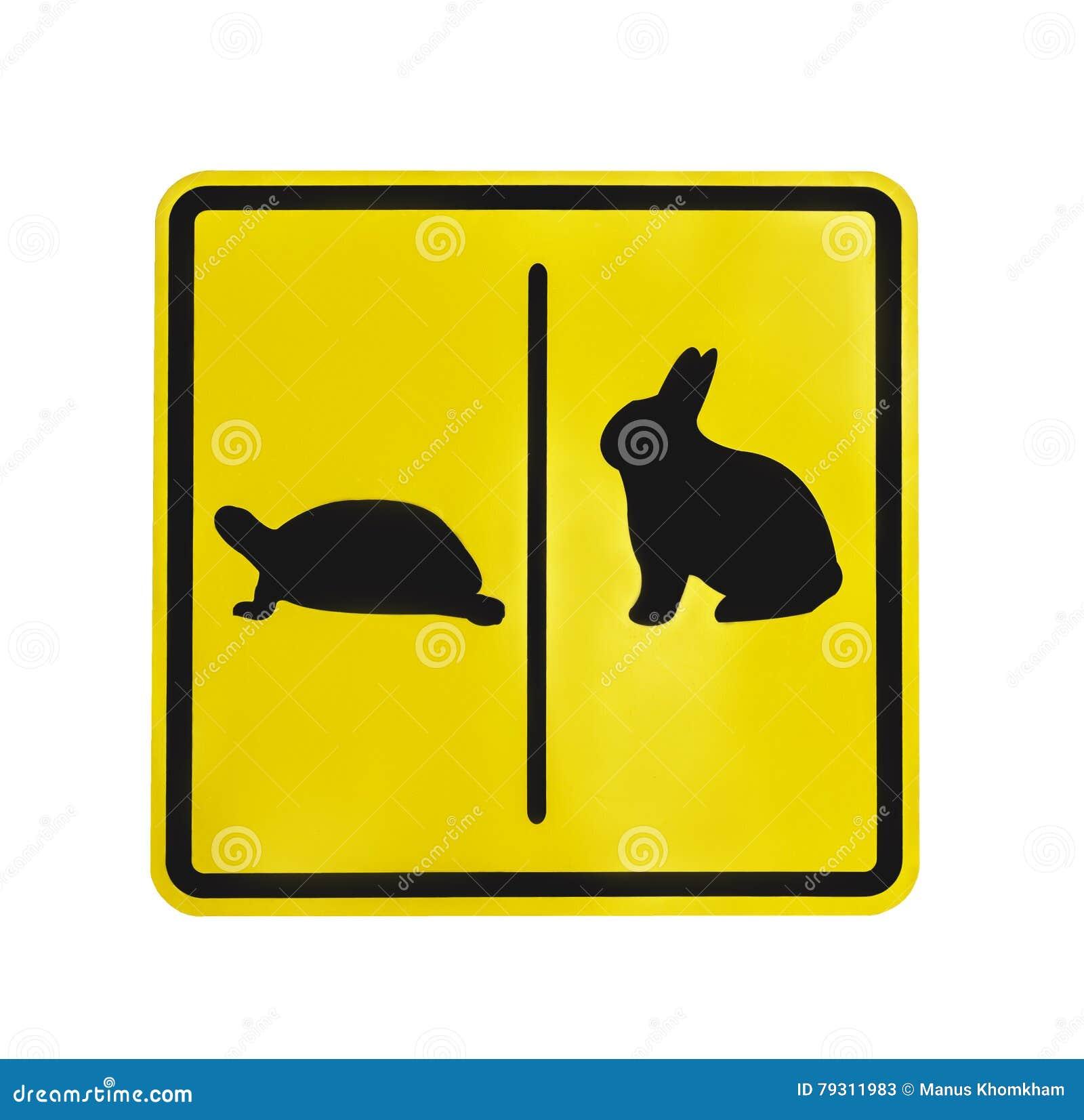 TRX4 : comment bloquer les différentiels avant et arrière indépendamment Pictogramme-jaune-de-tortue-et-de-lapin-de-label-du-trafic-d-isolement-79311983