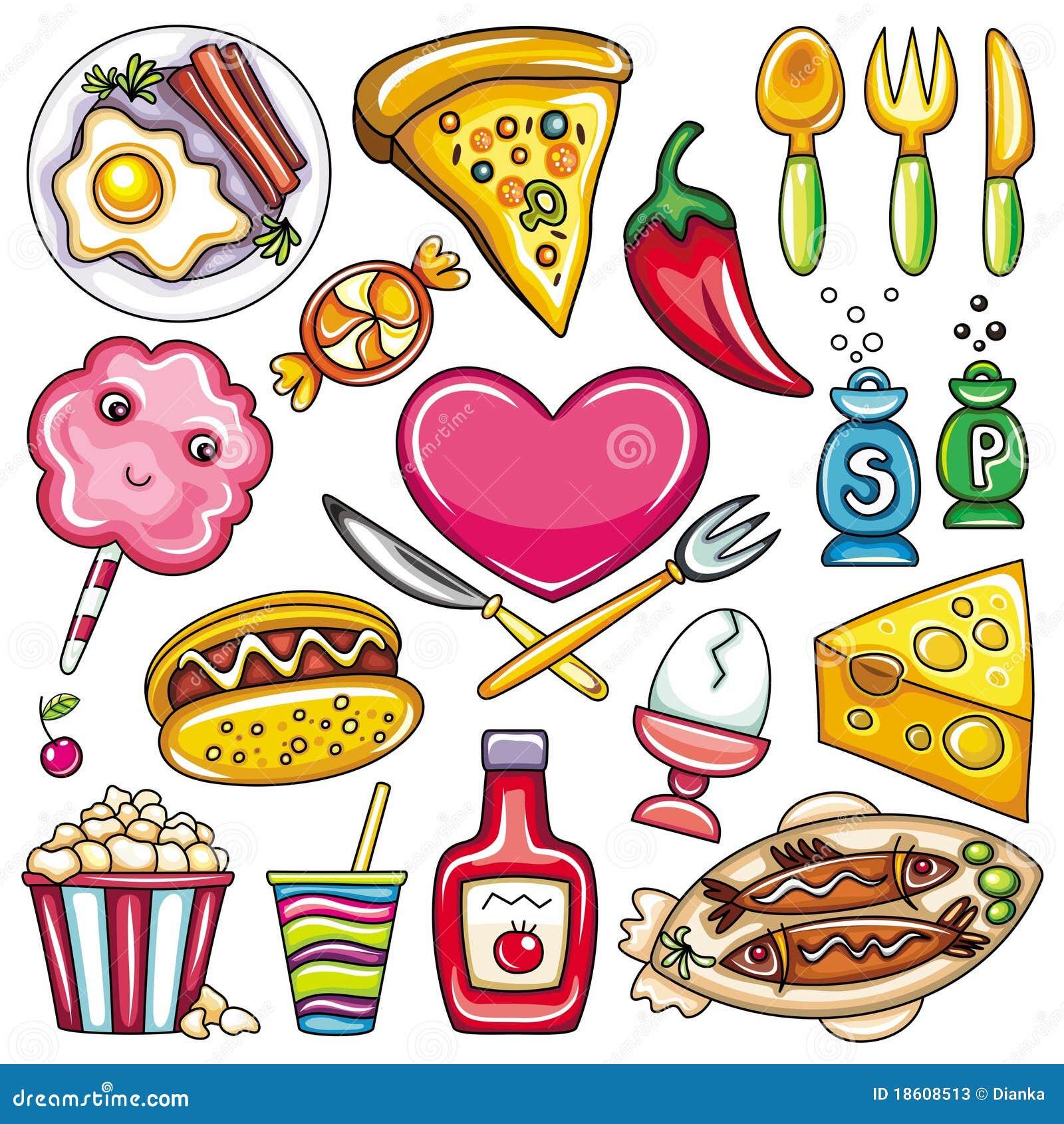 Pictogrammen 2 van het voedsel