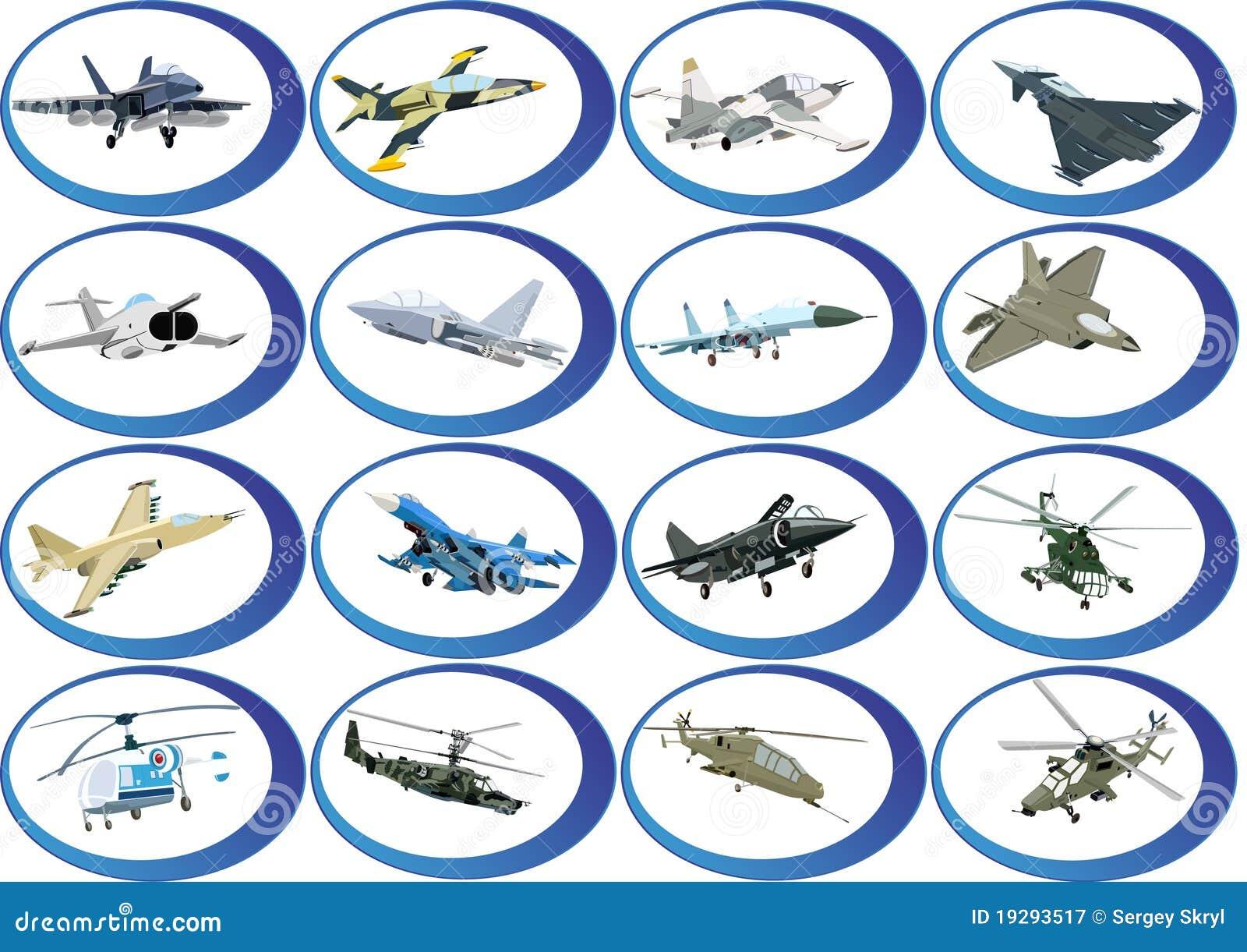 Pictogrammen van de militaire luchtvaart